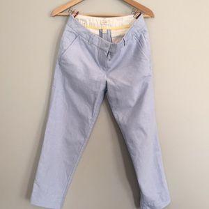 JCrew linen ankle pant